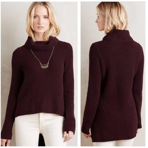 Anthropologie Moth HighLow Turtle Neck Sweater